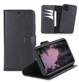 NorthLife NorthLife - Uitneembare 2-in-1 (RFID) bookcase hoes - iPhone 11 - Burcht Trecht Zwart