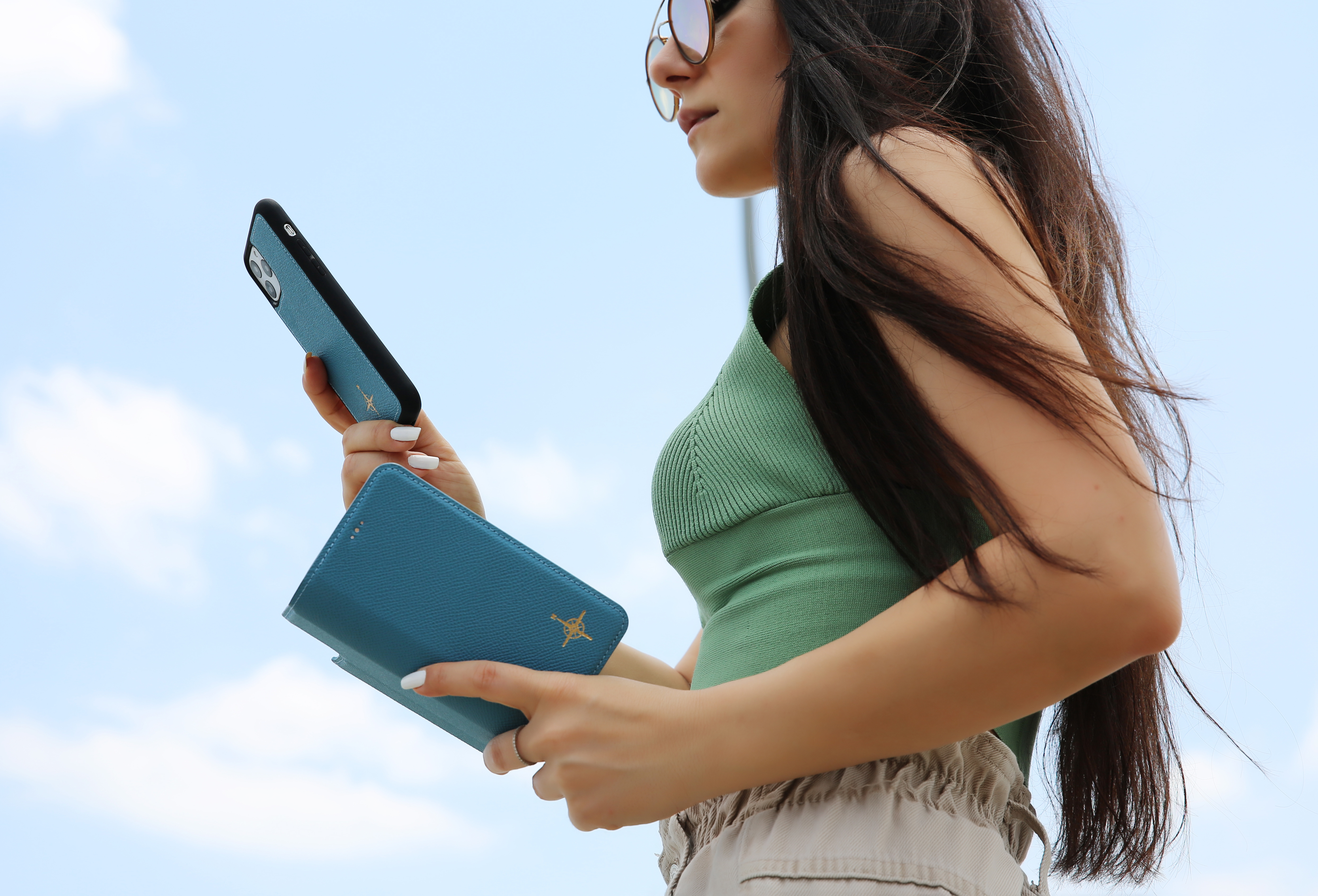 NorthLife Echt lederen uitneembare 2-in-1 (RFID) bookcase hoes Leithen Saffiano voor de iPhone 11 Pro