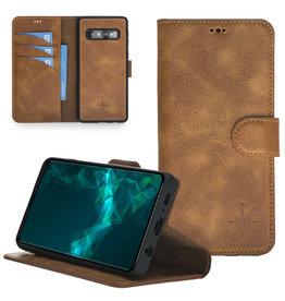NorthLife NorthLife - Uitneembare 2-in-1 (RFID) bookcase hoes - Samsung Galaxy S10 - Tiguan Leer Cognac