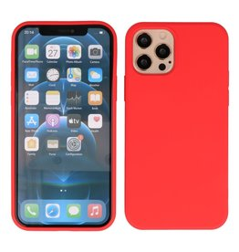 Lunso Lunso - Softcase hoes -  iPhone 12  Pro Max  - Rood