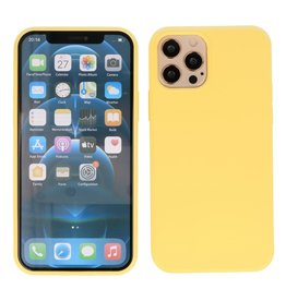 Lunso Lunso - Softcase hoes -  iPhone 12  Pro Max  - Geel