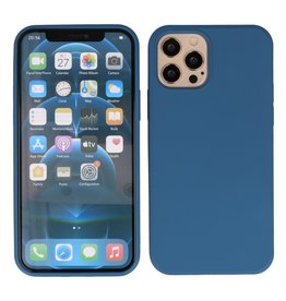 Lunso Lunso - Softcase hoes -  iPhone 12  Pro Max  - Blauw