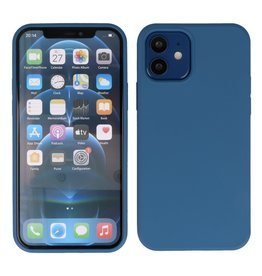 Lunso Lunso - Softcase hoes -  iPhone 12  Mini  - Blauw