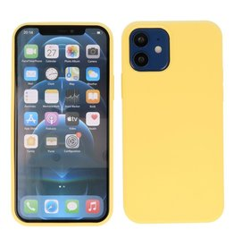 Lunso Lunso - Softcase hoes -  iPhone 12  Mini  - Geel