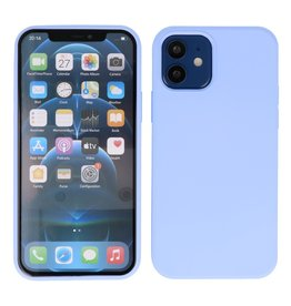 Lunso Lunso - Softcase hoes -  iPhone 12  Mini  - Lavendel