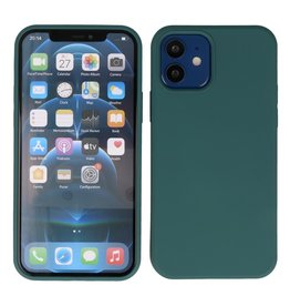 Lunso Lunso - Softcase hoes -  iPhone 12  Mini  - Army Groen