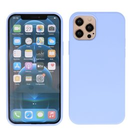 Lunso Lunso - Softcase hoes -  iPhone 12 / iPhone 12 Pro - Lavendel