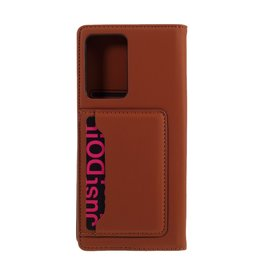 Lunso Lunso - Bookcover hoes met stand - Samsung Galaxy Note 20 Ultra - Bruin