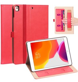 Lunso Luxe stand flip cover hoes - iPad 10.2 inch 2019 / 2020 - Rood
