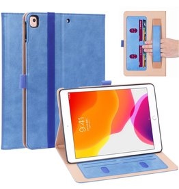 Lunso Luxe stand flip cover hoes - iPad 10.2 inch 2019 / 2020 - Blauw