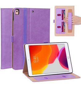 Lunso Luxe stand flip cover hoes - iPad 10.2 inch 2019 / 2020 - Paars