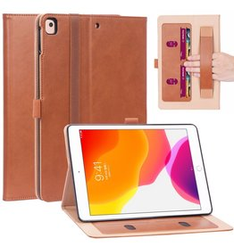 Lunso Luxe stand flip cover hoes - iPad 10.2 inch 2019 / 2020 - Bruin