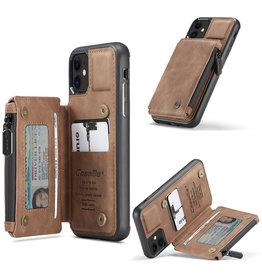 Caseme Caseme - Backcover portemonnee hoes - iPhone 11 - Cognac