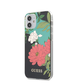 Guess Guess - backcover hoes - iPhone 12 Mini - Floral No. 1 + Lunso Tempered Glass
