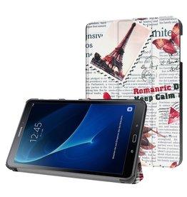 3-Vouw stand flip hoes Samsung Galaxy Tab A 10.1 inch (2016) - Eiffeltoren