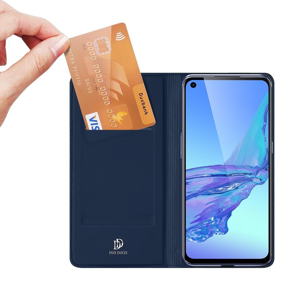 Dux Ducis Pro Serie slim wallet Blauw hoes voor de Oppo A53 en Oppo A53S