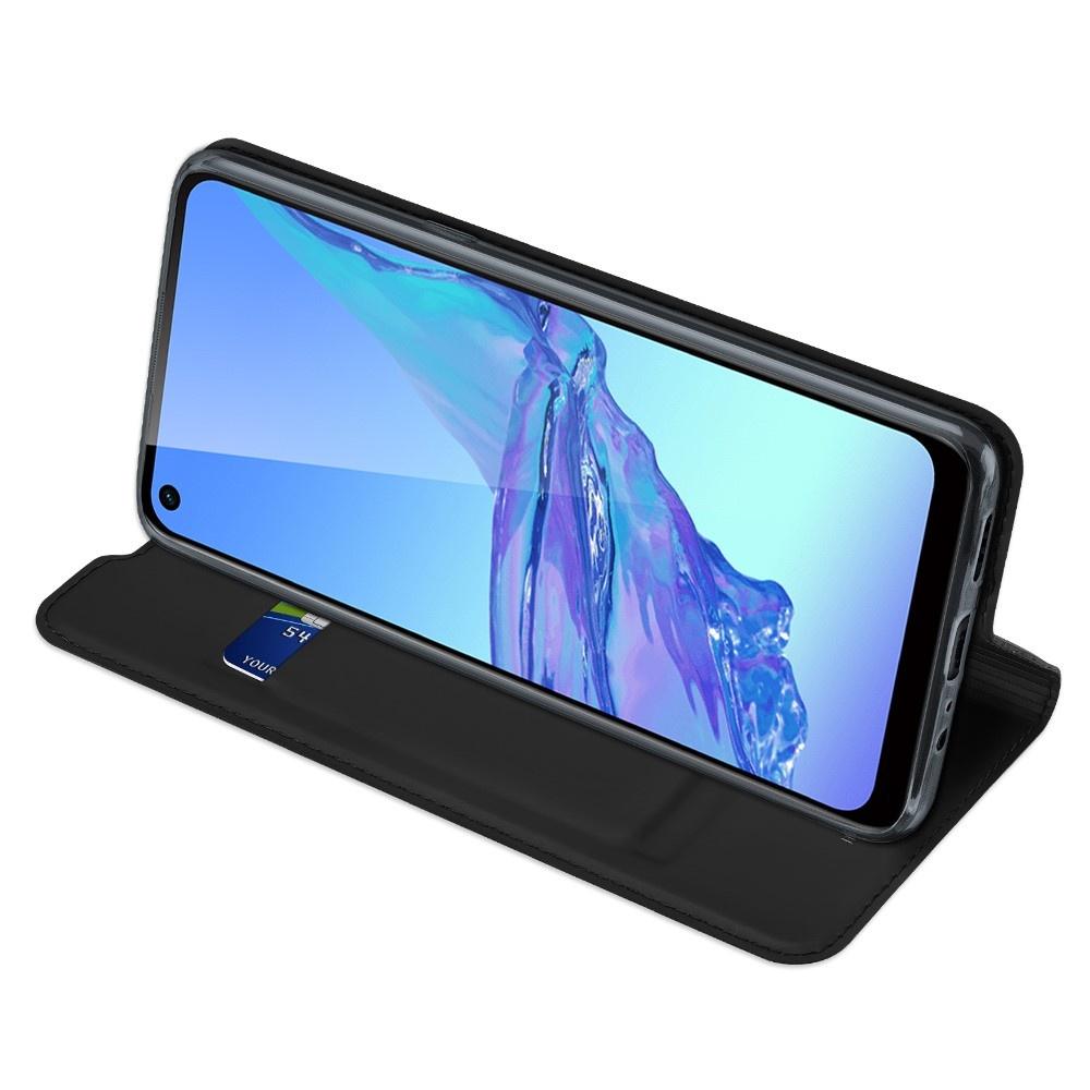 Dux Ducis Pro Serie slim wallet Zwart hoes voor de Oppo A53 en Oppo A53S