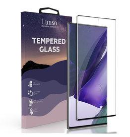 Lunso Lunso - Gehard Beschermglas - Full Cover Tempered Glass - Samsung Galaxy Note 20 Ultra - Black Edge