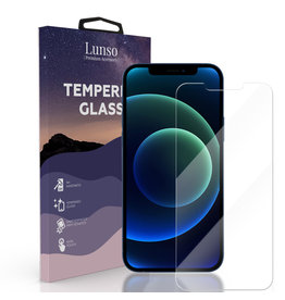 Lunso Lunso - Gehard Beschermglas - Full Cover Tempered Glass - iPhone 12 Pro Max