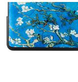 Lunso Sleepcover flip hoes Van Gogh Amandelboom voor de Kobo Forma (8 inch)