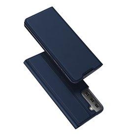 Dux Ducis Dux Ducis - Pro Serie Slim wallet hoes - Samsung Galaxy S21 - Blauw