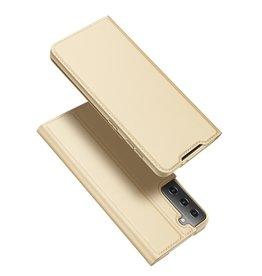 Dux Ducis Dux Ducis - Pro Serie Slim wallet hoes - Samsung Galaxy S21 - Goud