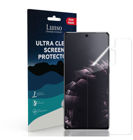 Lunso Lunso - Duo Pack (2 stuks) Beschermfolie - Full Cover Screen Protector - Samsung Galaxy S21 Plus