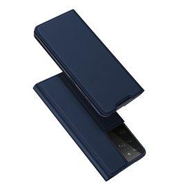 Dux Ducis Dux Ducis - Pro Serie Slim wallet hoes - Samsung Galaxy S21 Ultra - Blauw