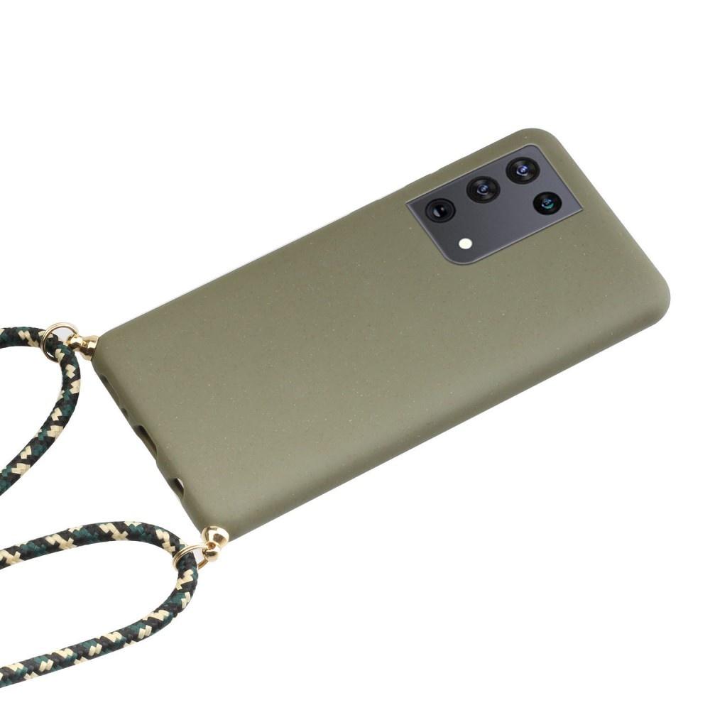 Lunso Backcover hoes Army Groen met koord voor de Samsung Galaxy S21 Ultra
