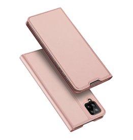 Dux Ducis Dux Ducis - Pro Serie Slim wallet hoes - Samsung Galaxy A12 - Rose Goud