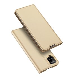 Dux Ducis Dux Ducis - Pro Serie Slim wallet hoes - Samsung Galaxy A12 - Goud