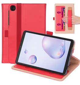 Lunso Luxe stand flip sleepcover hoes - Samsung Galaxy Tab A7 (2020) - Rood