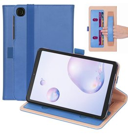 Lunso Luxe stand flip sleepcover hoes - Samsung Galaxy Tab A7 (2020) - Blauw