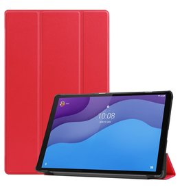 Lunso 3-Vouw sleepcover hoes - Lenovo Tab M10 HD Gen 2 (2e generatie) - Rood