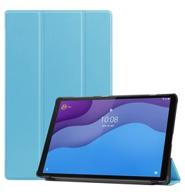 Lunso 3-Vouw sleepcover hoes - Lenovo Tab M10 HD Gen 2 (2e generatie) - Licht Blauw