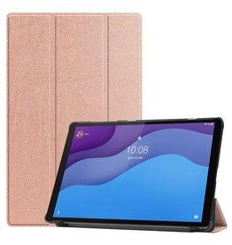 Lunso 3-Vouw sleepcover hoes - Lenovo Tab M10 HD Gen 2 (2e generatie) - Roze Goud