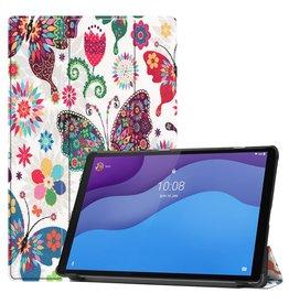Lunso 3-Vouw sleepcover hoes - Lenovo Tab M10 HD Gen 2 (2e generatie) - Vlinders