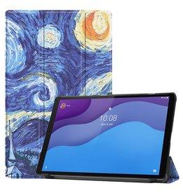 Lunso 3-Vouw sleepcover hoes - Lenovo Tab M10 HD Gen 2 (2e generatie) - Van Gogh Schilderij