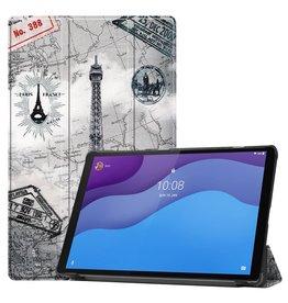 Lunso 3-Vouw sleepcover hoes - Lenovo Tab M10 HD Gen 2 (2e generatie) - Eiffeltoren