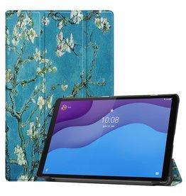 Lunso 3-Vouw sleepcover hoes - Lenovo Tab M10 HD Gen 2 (2e generatie) - Van Gogh Amandelboom