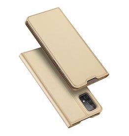 Dux Ducis Dux Ducis - Pro Serie Slim wallet hoes -Samsung Galaxy A52  - Goud