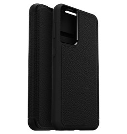 Otterbox Otterbox - Strada Case wallet hoes - Samsung Galaxy S21 - Zwart + Lunso Tempered Glass