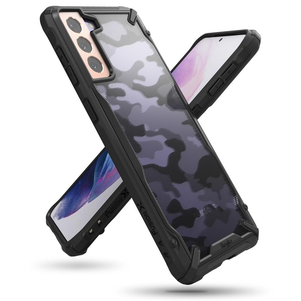 Ringke Fusion X Guard backcover hoes Camo Zwart voor de Samsung Galaxy S21 Plus