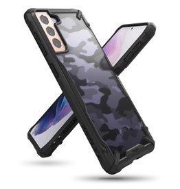 Ringke Ringke - Fusion X Guard backcover hoes - Samsung Galaxy S21 - Camo Zwart