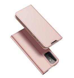 Dux Ducis Dux Ducis - Pro Serie Slim wallet hoes -Samsung Galaxy A72  - Rose Goud