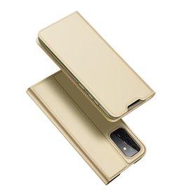 Dux Ducis Dux Ducis - Pro Serie Slim wallet hoes -Samsung Galaxy A72  - Goud
