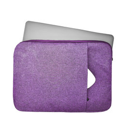 Lunso Lunso - Stijlvolle zachte neopreen sleeve hoes 13 inch - Paars