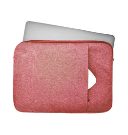 Lunso Lunso - Stijlvolle zachte neopreen sleeve hoes 13 inch - Roze