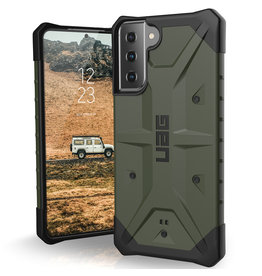 Urban Armor Gear UAG - Pathfinder backcover hoes - Samsung Galaxy S21 Plus - Groen + Lunso Tempered Glass