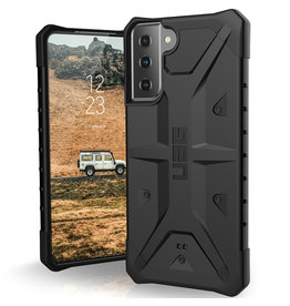 Urban Armor Gear UAG - Pathfinder backcover hoes - Samsung Galaxy S21 Plus - Zwart + Lunso Tempered Glass